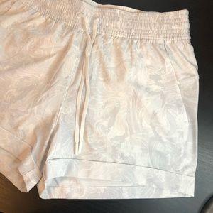 White/Grey High Waisted Lululemon Shorts